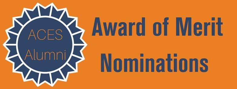 Award of merit nominations