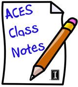 ACES Class Notes Graphic