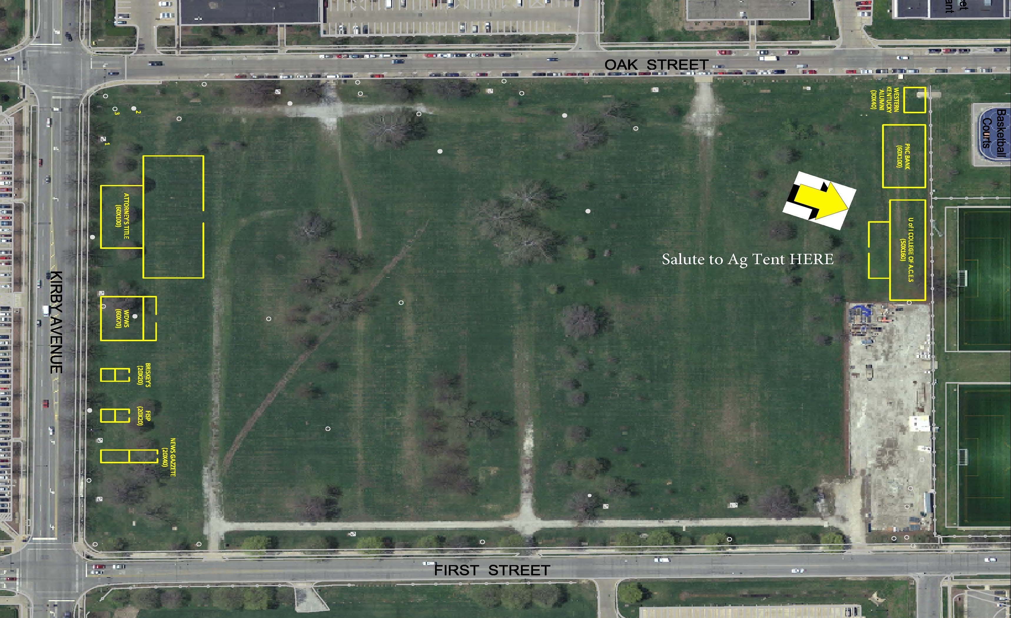 Salute to Ag Tent Location