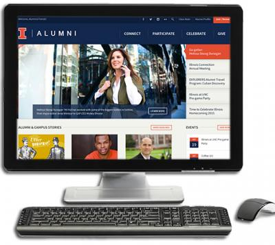 Preview of the New University of Illinois Alumni Associaiton website